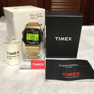 タイメックス(TIMEX)のTIMEX  クラシックデジタル オリジナル ゴールド  T78677(腕時計(アナログ))