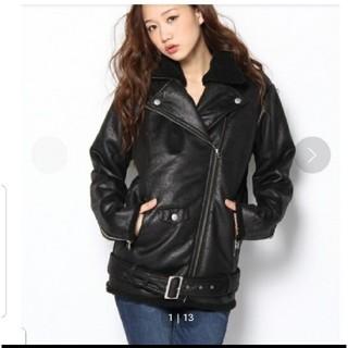 スライ(SLY)の今週まで値下げ 新品タグ sly ボアジャケット サイズ1(ライダースジャケット)