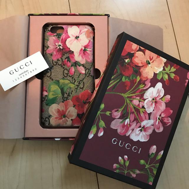 iphoneカバー レザー - Gucci - 【年末SALE】 GUCCI iPhone6.6sケース 花柄 グッチの通販