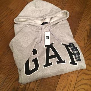 ギャップ(GAP)の新品 GAP ロゴパーカー グレー L(パーカー)