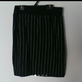 ストライプタイトスカート(ひざ丈スカート)