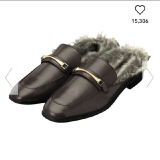 ジーユー(GU)の今だけ値下げ☆GU フェイクローファースリッパ(ローファー/革靴)
