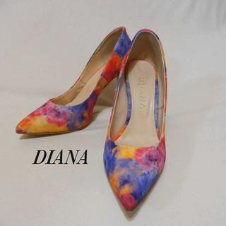 ダイアナ(DIANA)のDIANAダイアナ♡花柄パンプススパンコール(ハイヒール/パンプス)