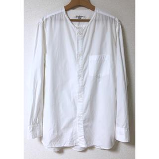 ヨウジヤマモト(Yohji Yamamoto)の16SS Yohji Yamamoto カットオフ ノーカラー シャツ ホワイト(シャツ)