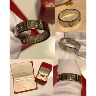 カルティエ(Cartier)のカルティエ ラブリング WG メンズ 指輪 65 / 24号 ホワイトゴールド(リング(指輪))