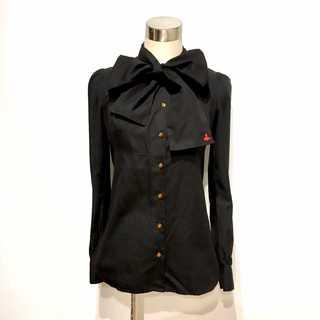 Vivienne Westwood - ヴィヴィアンウエストウッド 前襟 リボンデザイン ブラウス シャツ