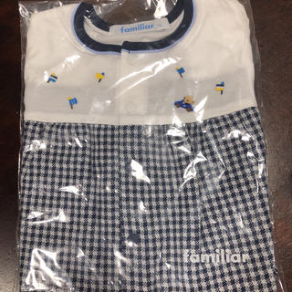 familiar - ファミリア  袖付きロンパース  70センチ