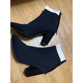 マチルダ ソックス風 ショートブーツ (ブーツ)