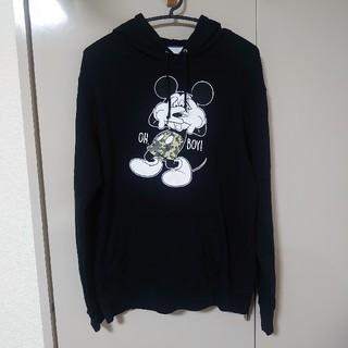 Disney - Disney ミッキー OH,BOY! パーカー 黒 Lサイズ