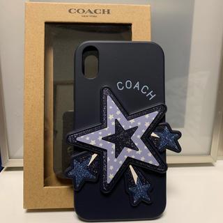 コーチ(COACH)の新品 COACH コーチ iPhoneXR シリコンケース 星(iPhoneケース)