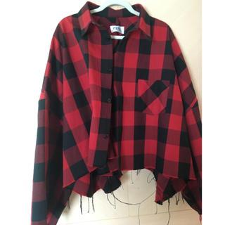コムデギャルソン(COMME des GARCONS)のkidill  キディル オーバーシャツ チェックシャツ 赤(シャツ)