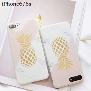 大理石 と パイナップル iPhone6 iPhone6s ケース