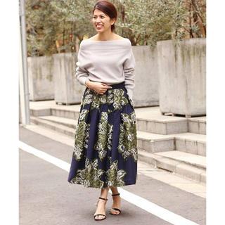 IENA - ■ IENA LA BOUCLE フラワージャガードボリュームスカート 38■