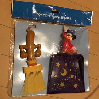 Disney - ディズニーランド ミッキー 魔法使いの弟子 ほうき& ちりとり