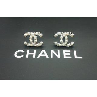CHANEL - 新品 CHANEL シャネル パールシルバークリスタルピアス
