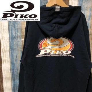 PIKO - 90's  再ブーム中♪ ピコ PIKO フード付パーカー ブラック M 人気