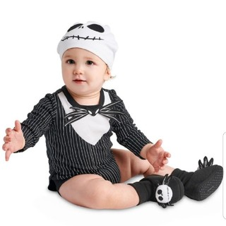 Disney - なりきり ハロウィン ガイコツ コスチューム 仮装 ロンパース ジャック