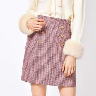Lily Brown - リリーブラウン 台形ダブルボタンスカート