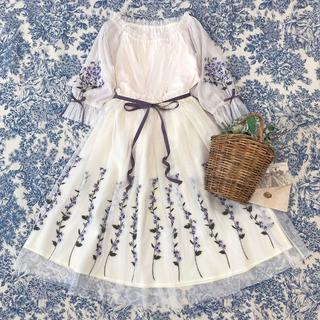 F i.n.t - ☆完売品 フィント スミレ刺繍チュールブラウス と スカート セット
