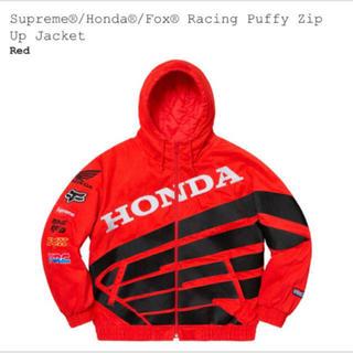 シュプリーム(Supreme)のSupremeシュプリームHondaホンダコラボブルゾンfox racing赤S(ライダースジャケット)