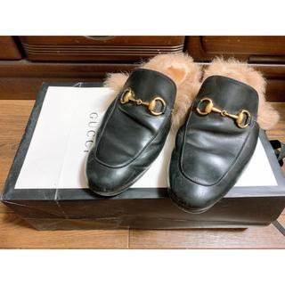 グッチ(Gucci)のGUCCI プリンスタウン レザースリッパ(ローファー/革靴)