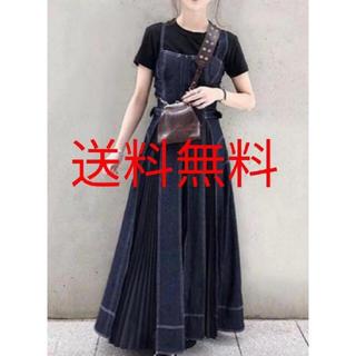 ZARA - 最安値 カーサフライン同型 デニムロングプリーツスカート casafline