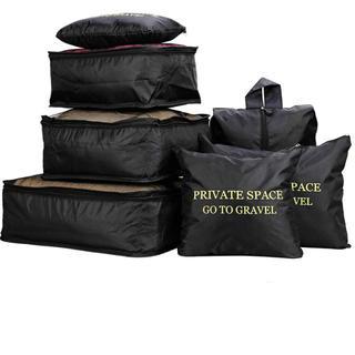 トラベルポーチ7点セット 衣類収納袋  インナーバッグ メッシュポーチ 収納袋