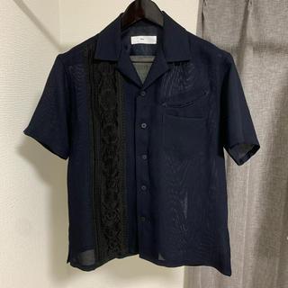 トーガ(TOGA)のTOGA VIRILIS 刺繍シャツ シースルー 開襟 オープンカラーシャツ(シャツ)