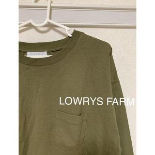 ローリーズファーム(LOWRYS FARM)のローリーズファーム カットソー カーキ(カットソー(長袖/七分))