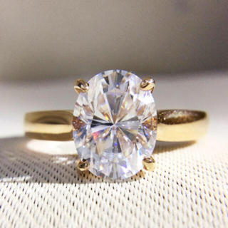 【2カラット 】輝く モアサナイト ダイヤモンド リング(リング(指輪))