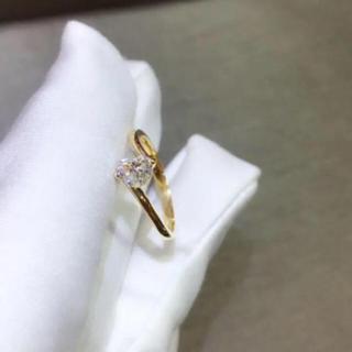 【newデザイン】可愛い ハート モアサナイト ダイヤモンド リング(リング(指輪))