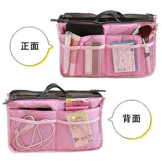 【未使用】バッグインバッグ 軽い 旅行 ポーチ 大容量 収納 ピンク