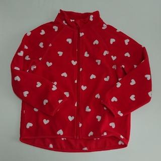 H&M - H&M フリースジャケット アウター 110/115 ハート柄 赤