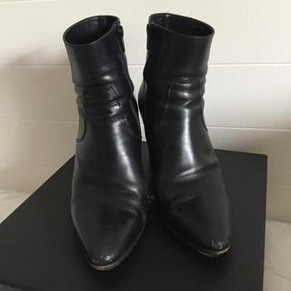 サンローラン(Saint Laurent)の定価13万以上 ドゥロワー 購入 サンローラン ショートブーツ 38(ブーツ)