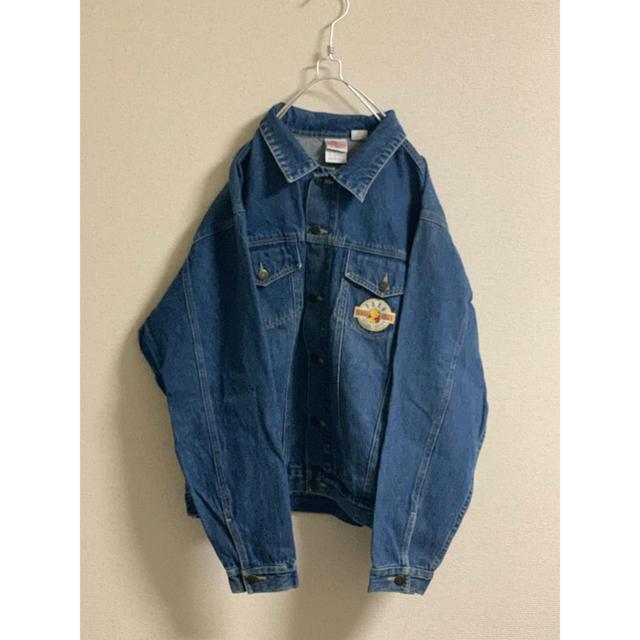 Disney(ディズニー)のDisney プーさん デニムジャケット メンズのジャケット/アウター(Gジャン/デニムジャケット)の商品写真