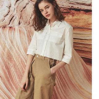 アリシアスタン(ALEXIA STAM)のCut-off Short Chambray Shirt(シャツ/ブラウス(長袖/七分))