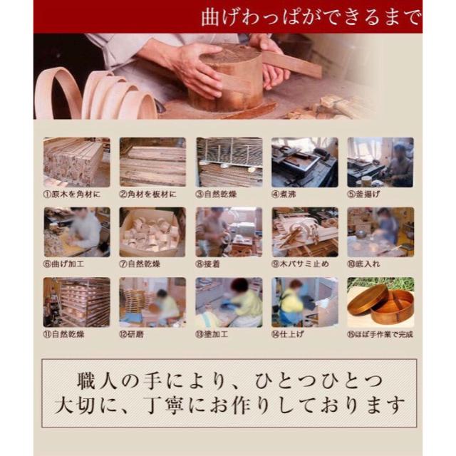 漆 曲げわっぱお弁当箱 インテリア/住まい/日用品のキッチン/食器(弁当用品)の商品写真