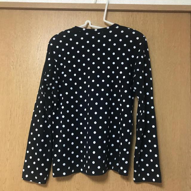 COMME des GARCONS(コムデギャルソン)のコムデギャルソン  プレイ レディースL 黒ドット柄 レディースのトップス(Tシャツ(長袖/七分))の商品写真