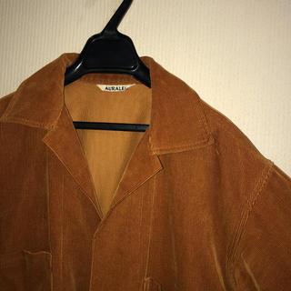 オーラリー コーデュロイ シャツジャケット
