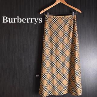 BURBERRY - 【人気ノバチェック 即完売】Burberrys  ノバチェック ロングスカート