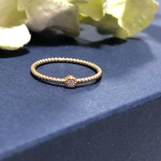 シエナ ロゼ K10 ダイヤモンド リング(リング(指輪))