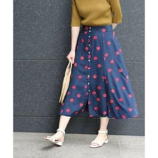 IENA - イエナ♡ドットフラワー前ボタンスカート 36