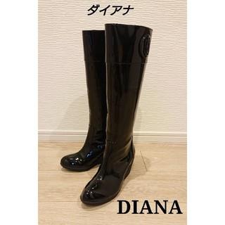 DIANA - ■ 新品・未使用 ■ DIANA ダイアナ レインブーツ 37 ブラック