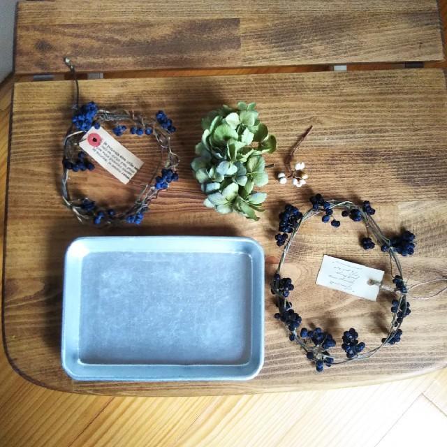 野山のリース、値下げ☆ドライフラワーのディスプレイ(トレイ付き) ハンドメイドのインテリア/家具(インテリア雑貨)の商品写真