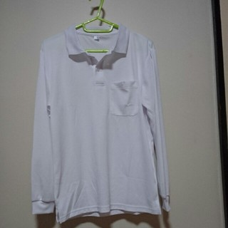 アベイル(Avail)の子供服👦👧(白)長袖ポロシャツ男女兼用160㎝・中古値下げ💴⤵(Tシャツ/カットソー)