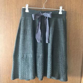 ランバンオンブルー(LANVIN en Bleu)のランバンオンブルー   ニットスカート(ひざ丈スカート)