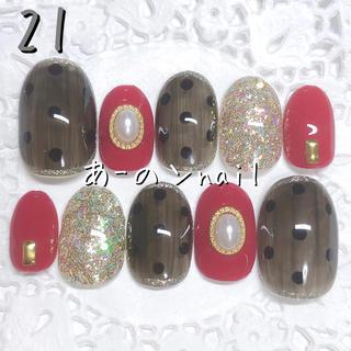 送料&カラー変更1色無料«21»ジェルネイルチップ♡*゜(つけ爪/ネイルチップ)