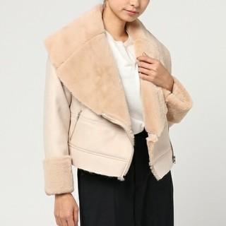 ニーナミュウ(Nina mew)のニーナミュー未使用フェイクムートンライダーズジャケット、ショートコート(毛皮/ファーコート)