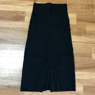UNIQLO - 新品★ロングスカート ユニクロ UNIQLO ニットスカート  黒 M
