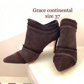 グレースコンチネンタル(GRACE CONTINENTAL)のグレースコンチネンタル ブラウンブーティ 新品未使用(ブーティ)